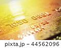 Gold credit cards close up. Macro shot smart card, credit card. 44562096