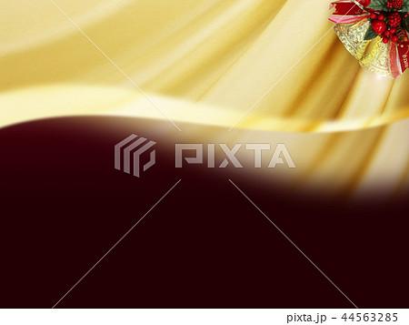 背景-クリスマス-ベル-ゴールド-ワインレッド 44563285