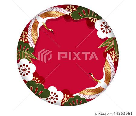 年賀状素材 円形の背景 44563961
