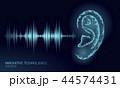 音 音声 音響のイラスト 44574431