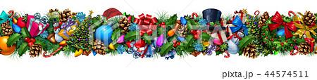 Christmas Decoration Horizontal Border 44574511