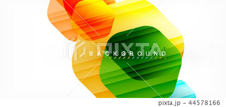 Vector multicolored hexagons geometric abstract background 44578166
