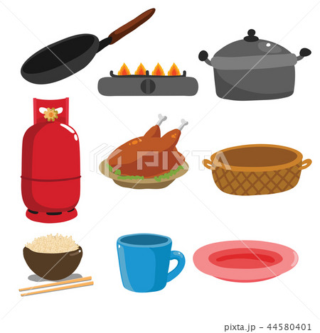 Kitchenware vector collection design 44580401