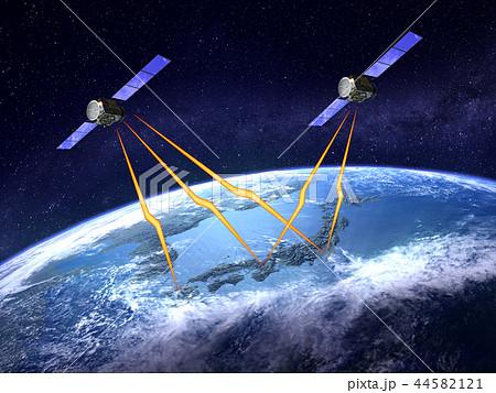 人工衛星 電波 GPSネットワーク 日本 2機 44582121
