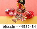 年賀状素材 獅子舞 凧の写真 44582434