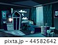 子 ベッドルーム 寝室のイラスト 44582642