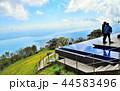 雲上のびわ湖テラス、びわ湖バレイ、自撮りする観光客、滋賀県 44583496