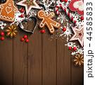 バックグラウンド 背景 クリスマスのイラスト 44585833