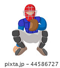 ベースボール 白球 野球のイラスト 44586727