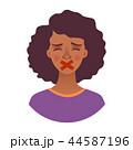 アフリカ人 アフリカ産 女性のイラスト 44587196