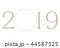 年賀状 2019 フォトフレーム ゴールド 44587325