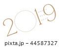 年賀状 2019 フォトフレーム ゴールド 44587327