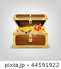 チェスト 宝 宝物のイラスト 44591922