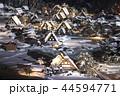 【岐阜県】冬の白川郷 ライトアップ 44594771