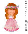 女の子 ドレスアップ ドレスのイラスト 44595413