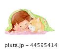 猫 ペット 人物のイラスト 44595414