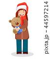 クリスマス クマのぬいぐるみ テディベアのイラスト 44597214