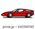 イタリアンスポーツクーペ 赤色 自動車イラスト 44598585