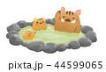 猪 亥 年賀状素材のイラスト 44599065