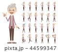 女性 セット シニアのイラスト 44599347