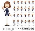 女性 中年 セットのイラスト 44599349