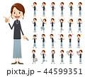 女性 セット バリエーションのイラスト 44599351