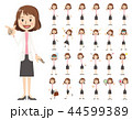 女性 セット バリエーションのイラスト 44599389