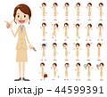 女性 セット バリエーションのイラスト 44599391