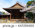 靖国神社 能楽堂と桜の標本木 (東京都千代田区) 2018年3月 44599460