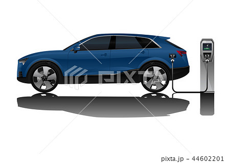 Electric SUV with charging station.  44602201