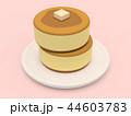 パンケーキ ホットケーキ バターのイラスト 44603783