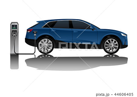 Electric SUV with charging station.  44606405