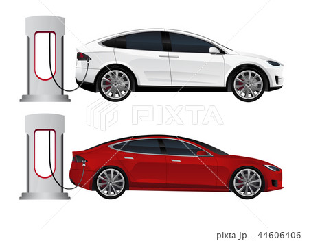 Set of electric cars 44606406