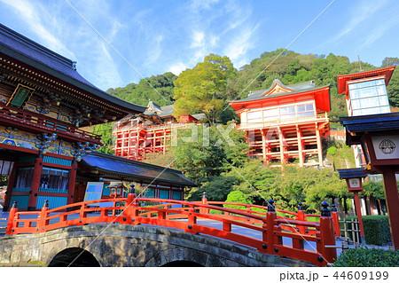 朝日を浴びる秋の祐徳稲荷神社(佐賀県鹿島市) 44609199