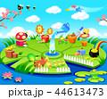 カエル 成長 蓮のイラスト 44613473