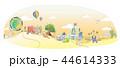 動物 カラフル 丘のイラスト 44614333