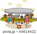 アルファベット アーチ キャンプのイラスト 44614422