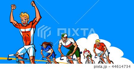 自転車 フィニッシュライン 勝利 44614734