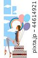 風船 バルーン 女性のイラスト 44614921