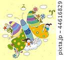 少年 蝶 楽しみのイラスト 44616829