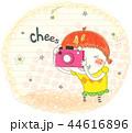 カメラ 全身 キャッチのイラスト 44616896