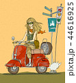 ドライブ スクーター 旅行のイラスト 44616925