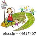 家族 ファミリー ママのイラスト 44617407