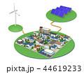 再生可能エネルギー 太陽光発電 風力発電のイラスト 44619233