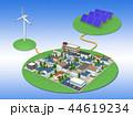 再生可能エネルギー 太陽光発電 風力発電のイラスト 44619234