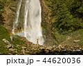 Hiker Enjoying the Scenic Waterfall with rainbow. 44620036