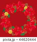 ポインセチア リース クリスマスリースのイラスト 44620444
