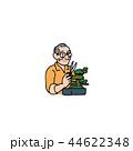 盆栽 手入れ 剪定のイラスト 44622348