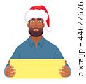 アフリカ人 アフリカ産 ボードのイラスト 44622676