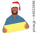 アフリカ人 アフリカ産 ボードのイラスト 44622696
